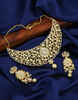 Fashionable Gold Finish Stunning American Diamond Kundan Necklace