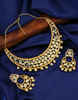 Beautiful Matte Gold Finish Studded With American Diamond Kundan Jewellery