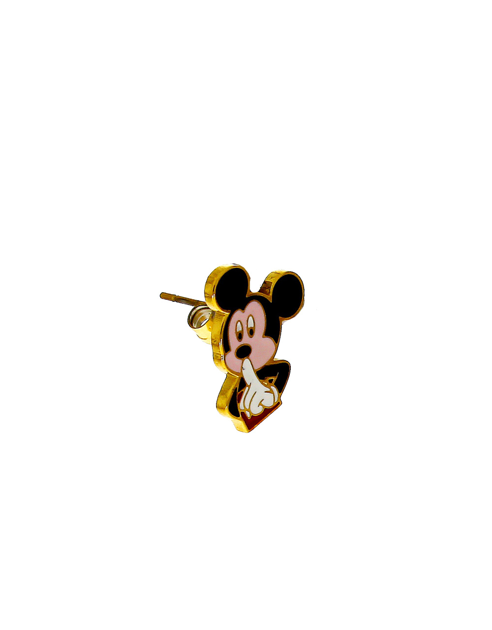 Black Colour Gold Finish Micky-Mouse Chain Pendant Set
