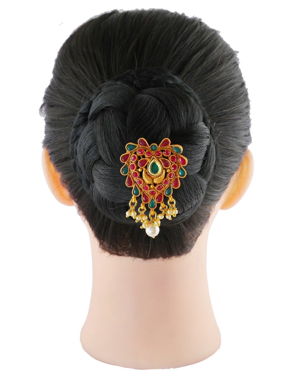 Multi Colour Maharashtrian Studded With Stones Brooch Pin