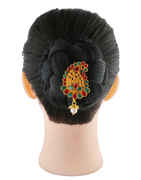 South Matte Finish Multi Colour Hair Ambada Brooch