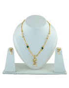 Fashionable Gold Finish Mangalsutra Studded With Diamond Mangalsutra