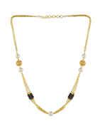 Beautiful Gold Finish Chain Fancy Mangalsutra Mala For Women
