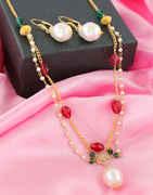 Multi Colour Gold Finish American Diamond Mangalsutra Fancy
