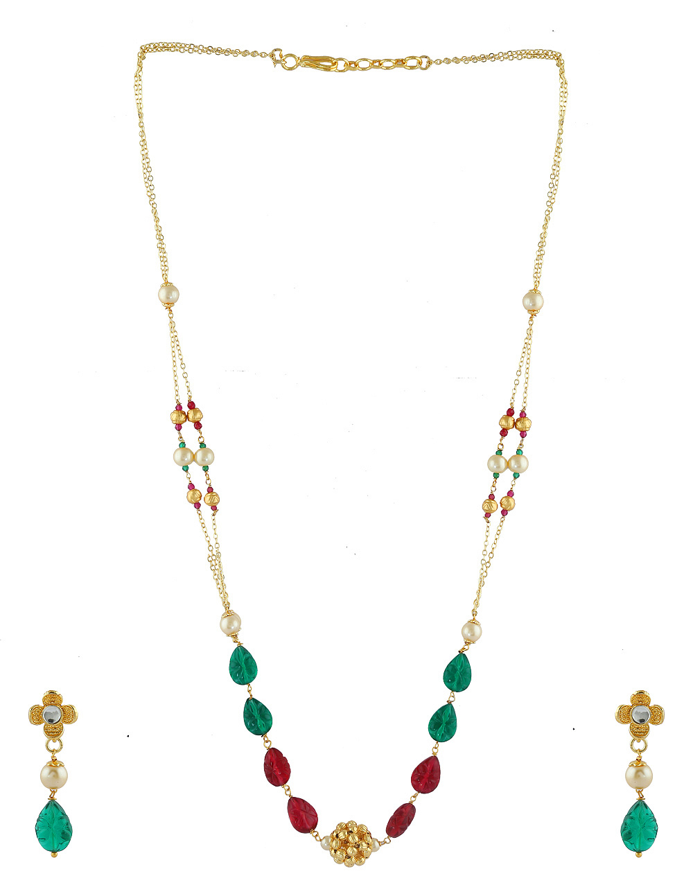Fancy Gold Finish Mangalsutra Mala Styled With Beads Mangalsutra For Women