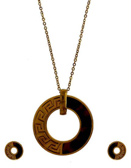 Gold Finish Unique Design Western Wear Necklace Jewellery