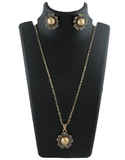 Antique Gold Finish Floral Design Korean Chain Pendant