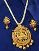Multi Colour Fancy Matte Gold Finish Pendant Necklace Set