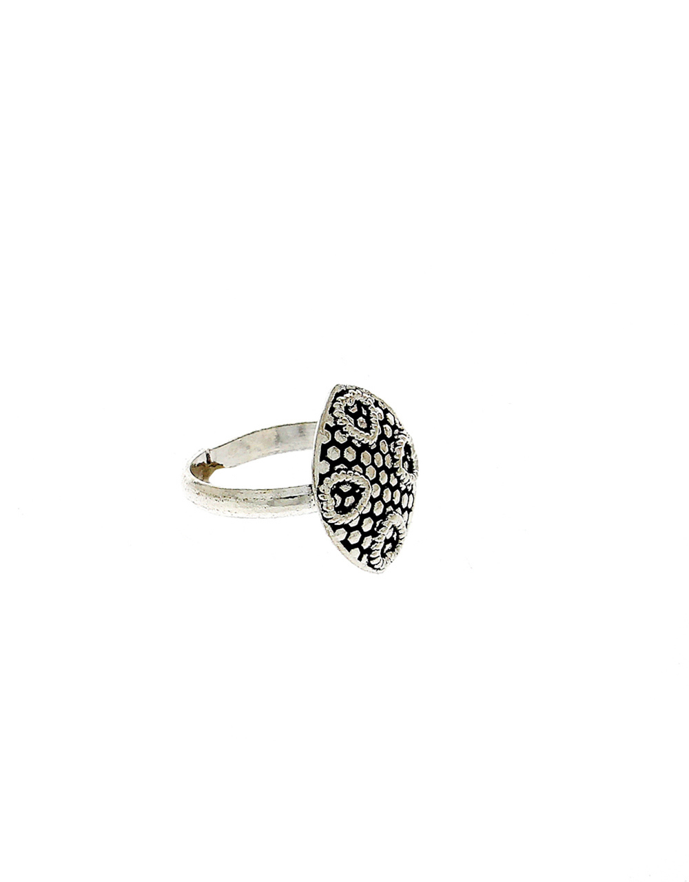 Oxidised Finish Silver Toe Ring For Girls Fancy