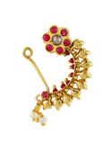 Red Colour Gold Finish Marathi Nath