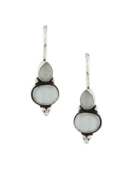 Fancy Grey Colour Designer Earrings For Fancy