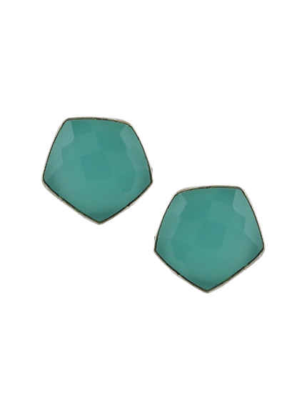 Simple Green Colour Ear Tops Fancy For Girls