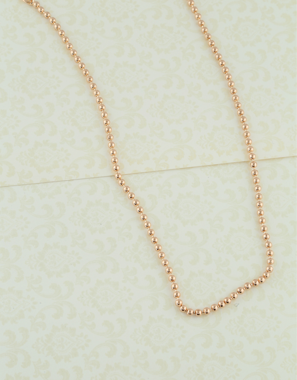 Fancy Rose Gold Finish Simple Daily Wear Chain