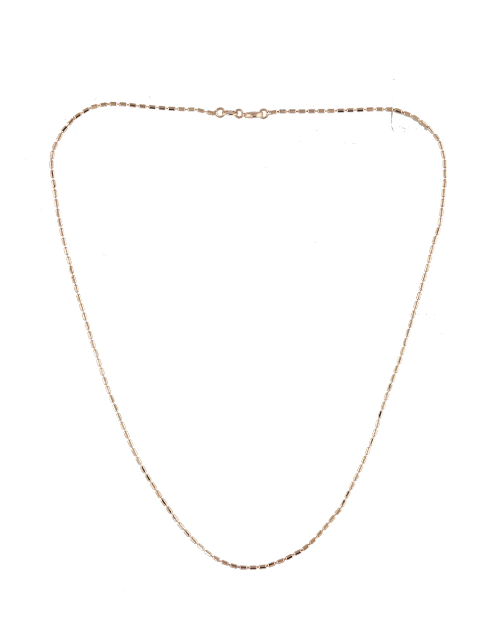Simple Rose Gold Finish Chain For Girls Fancy