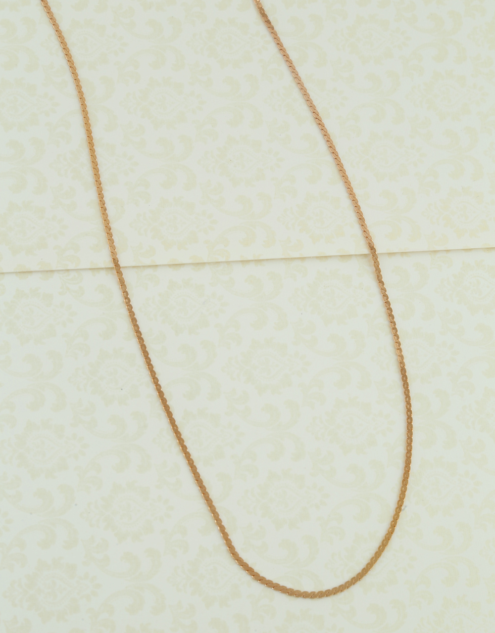 Fancy Rose Gold Finish Simple Chain For Fancy