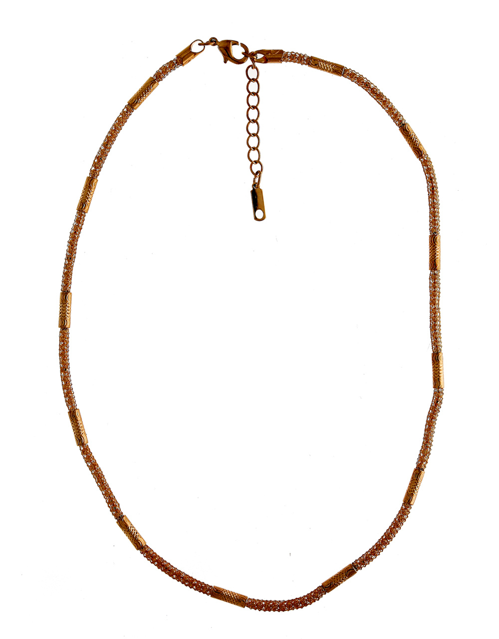 Unique Design Rose Gold Finish Chain For Girls