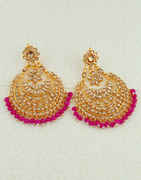 Pink Colour Gold Finish Stunning Earring For Fancy