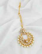 Very Classy Gold Finish Stunning Fancy Maang Tika