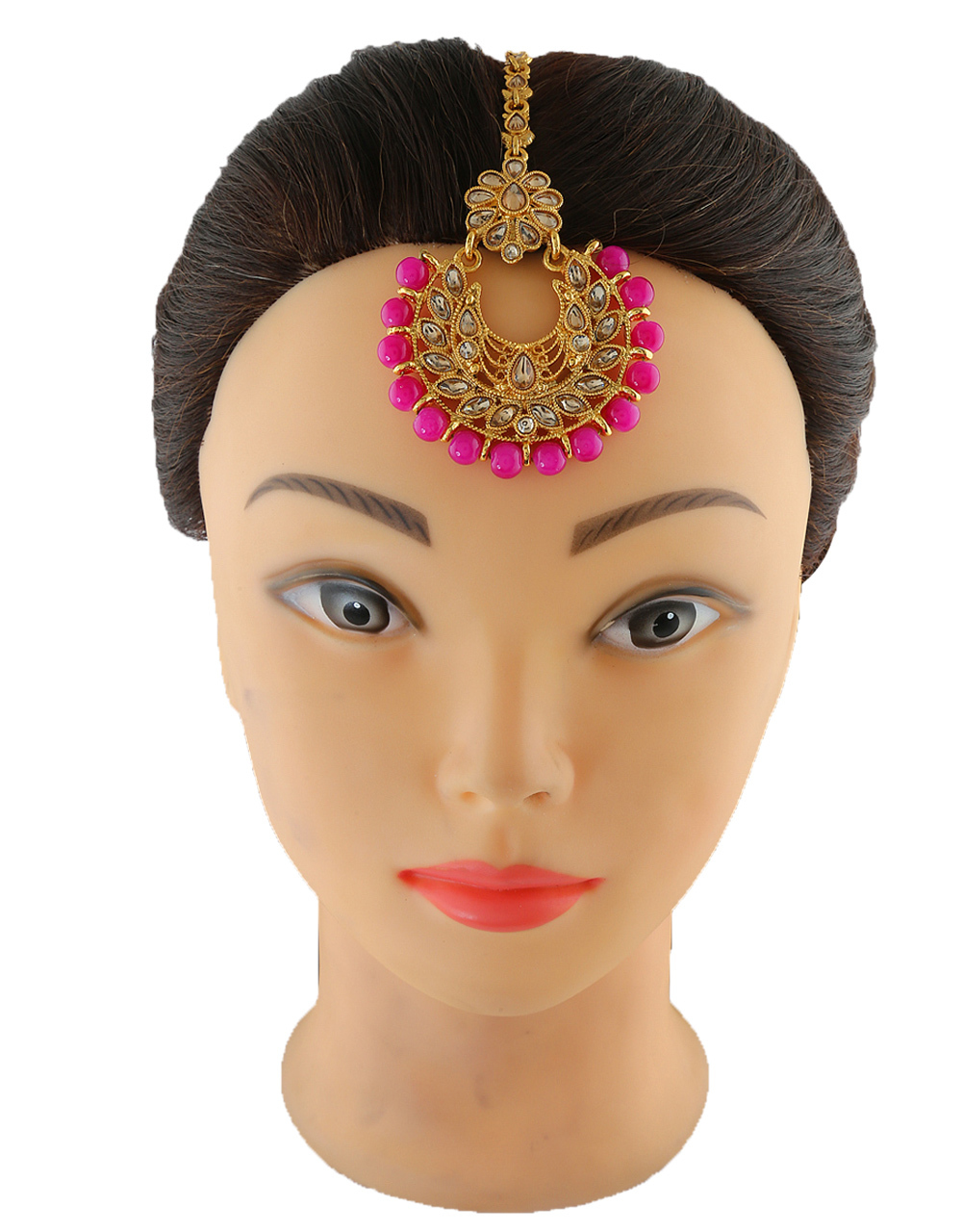Pink Colour Gold Finish Party Wear Jewellery