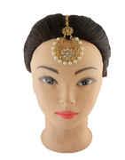 Fancy Gold Finish Stunning Mang Tikka Jewellery