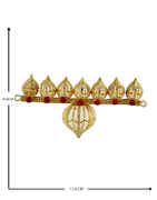 Gold Finish Red Colour Bajuband Jewellery For Ganpati