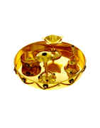 Fancy Gold Finish Pooja Thali For Ganesha Ocassion
