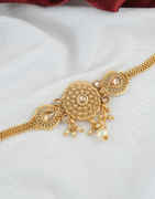 Peach Colour Gold Finish Stunning Bajuband Jewellery For Women Fancy