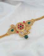 Multi Colour Simple Gold Finish Fancy Bajuband For Wedding