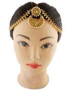 Fashionable Gold Finish Pearls Styled Matha Patti Designer