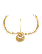 Gold Finish Pearls Styled Traditional Matha Patti