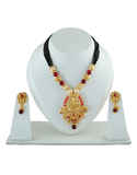 Red Colour Gold Finish Fancy Mangalsutra Traditional For Women Fancy