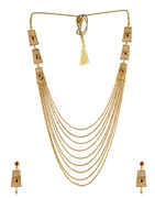 Red Colour Gold Finish Fancy Traditional Long Mangalsutra