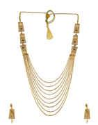 Peach Colour Gold Finish Designer Long Mangalsutra Fancy Wear For Weddings