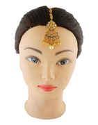 Stylish Gold Finish Stunning Mang Tikka Hair Jewellery
