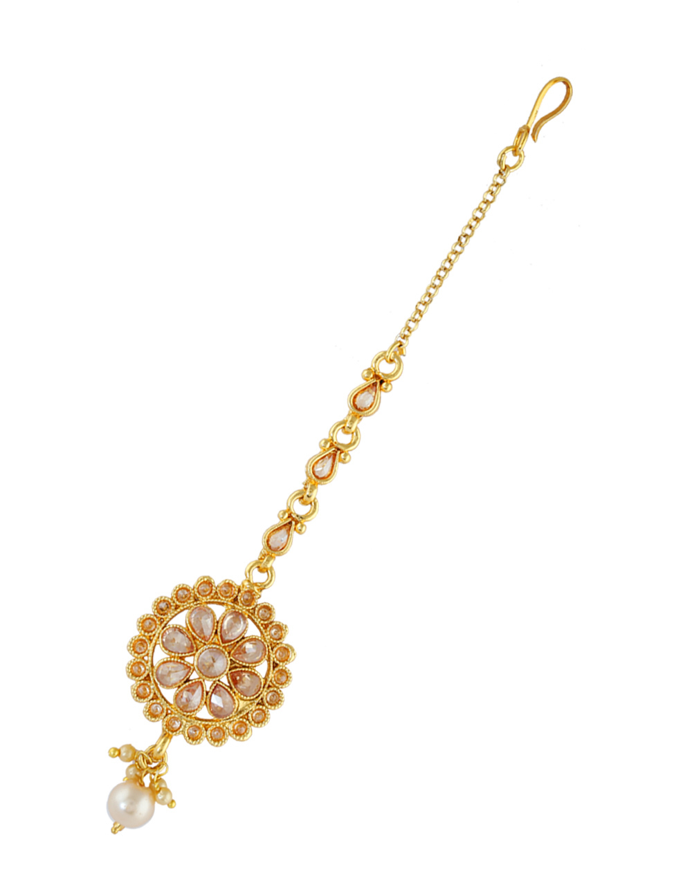 Simple Gold Finish Stunning Mang Tikka Jewellery