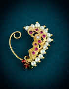 Pink Colour Gold Finish Bhanu Nath For Girls