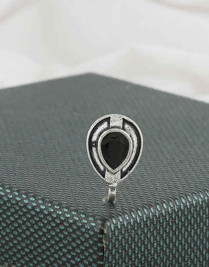 Black Colour Oxidised Finish Western Wear Fancy Nose Ring