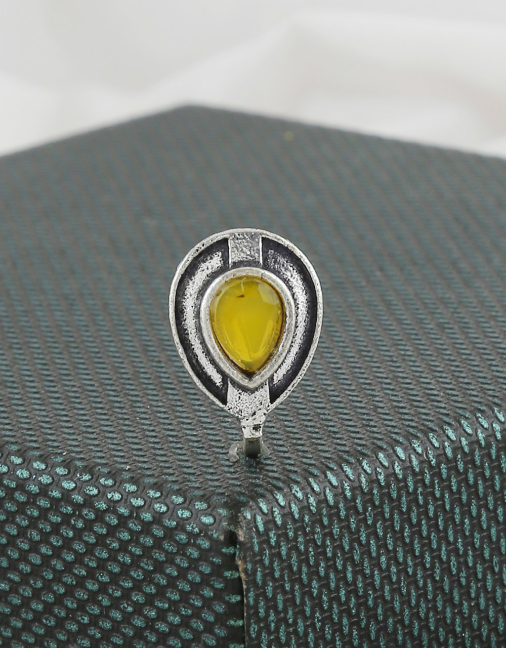 Yellow Colour Fancy Oxidised Finish Trendy Nose Ring