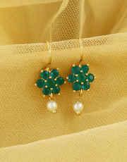 Green Colour Gold Finish Fancy Maharashtrian Bugadi