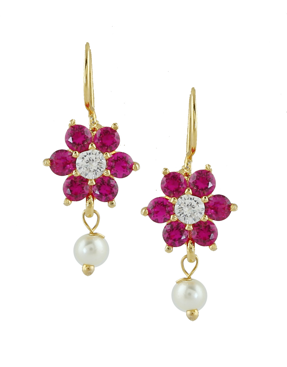 Pink Colour Gold Finish Fancy Bugadi For Girls