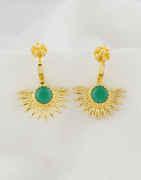 Green Colour Fancy Gold Finish Bugadi Design