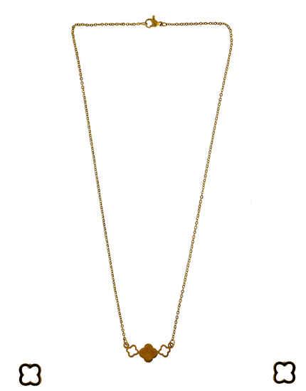 Gold Finish Western Wear Korean Pendant Set