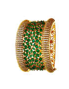 Green Colour Gold Finish Stunning Party Wear Bracelets