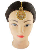Fashionable Gold Finish Studded With Stones Traditional Mang Tikka