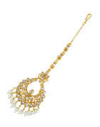 Fancy Gold Finish Studded With Wedding Maang Tikka Fancy