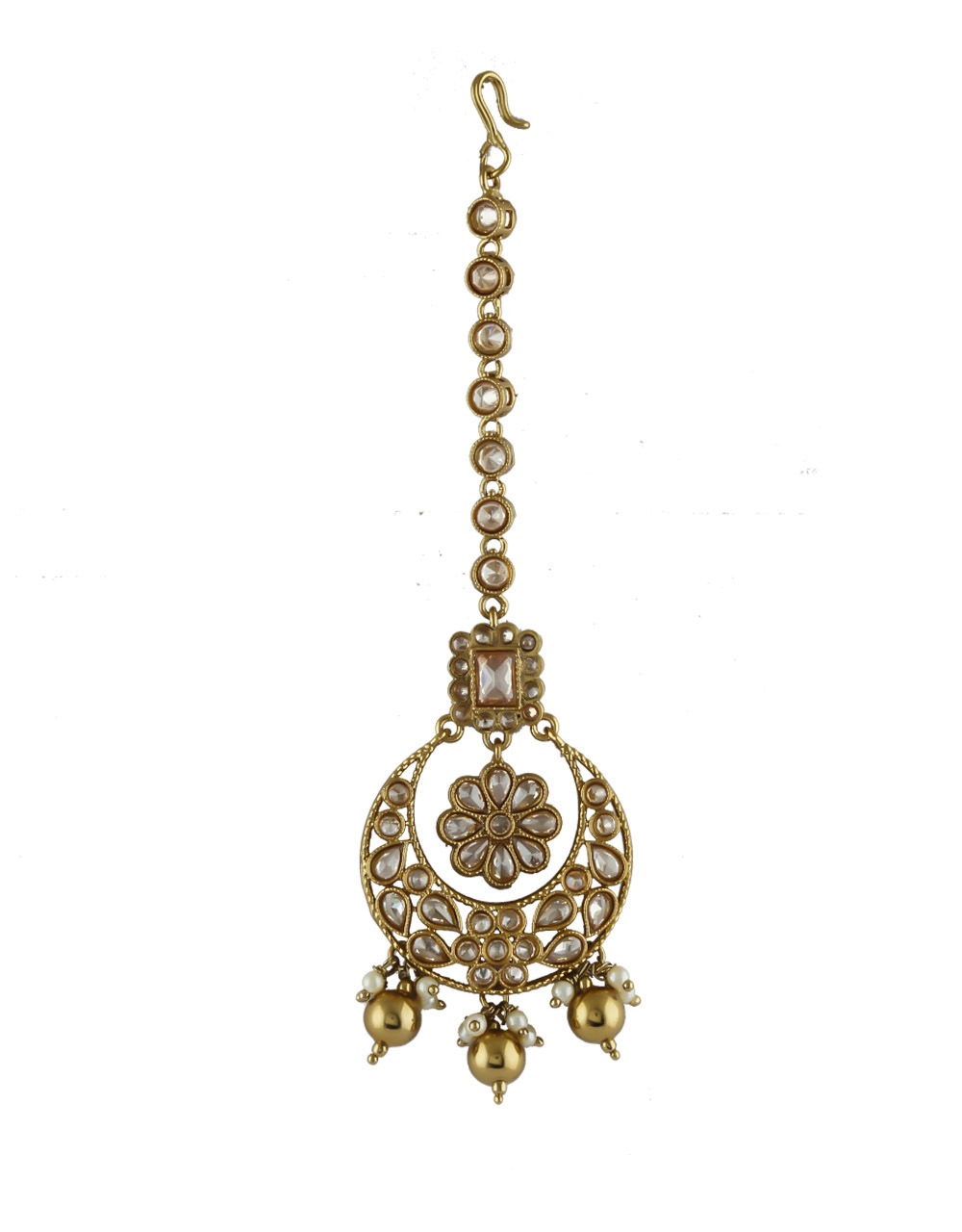 Traditional Antique Gold Finish Fancy Stunning Necklace For Bridal