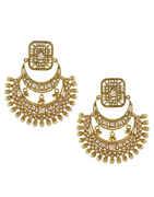 Gold Finish Necklace Studded With Stones Designer Padmavati Necklace Jewellery