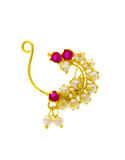 Gold Finish Maharashtrian Bhanu Nath For Women Fancy