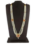 Multi Colour Gold Finish Styled With Pearls Beads Fancy Jewellery