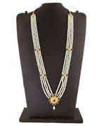 Simple Multi Colour Gold Finish Moti Gauri Ganpati Jewellery